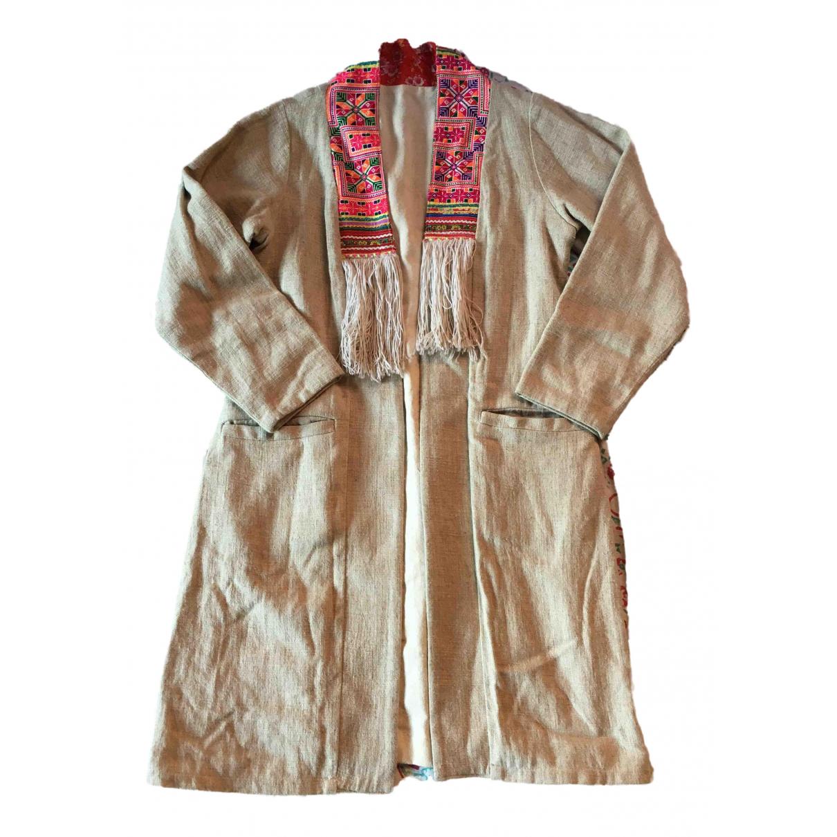 - Manteau   pour femme en coton - blanc