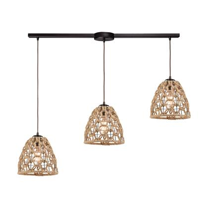 10709/3L Coastal Inlet 3-Light Pendant in Oil Rubbed Bronze with