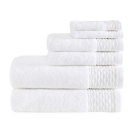 Madison Park AER 6-pc. Solid Bath Towel Set, One Size , White