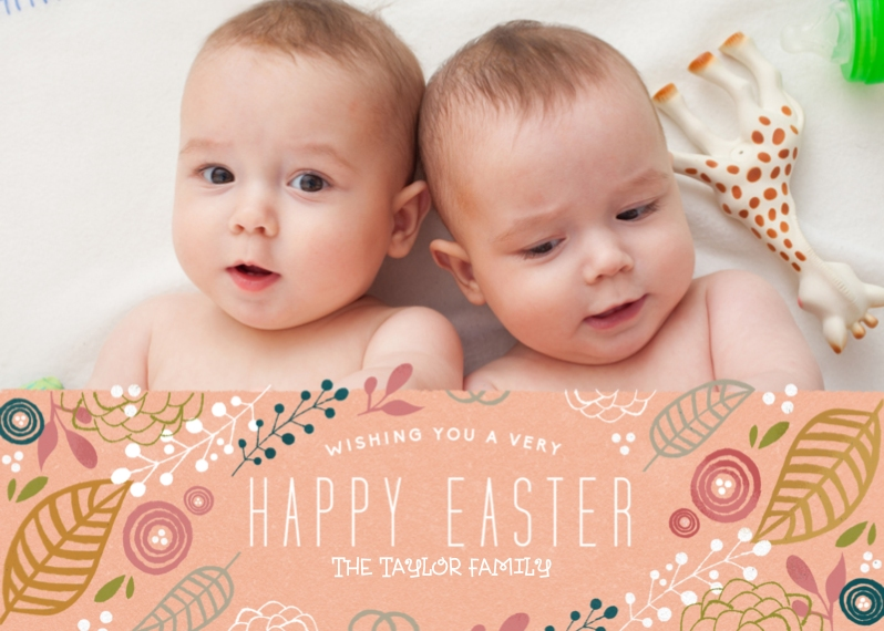 Easter Cards 5x7 Cards, Premium Cardstock 120lb, Card & Stationery -Very Happy Easter