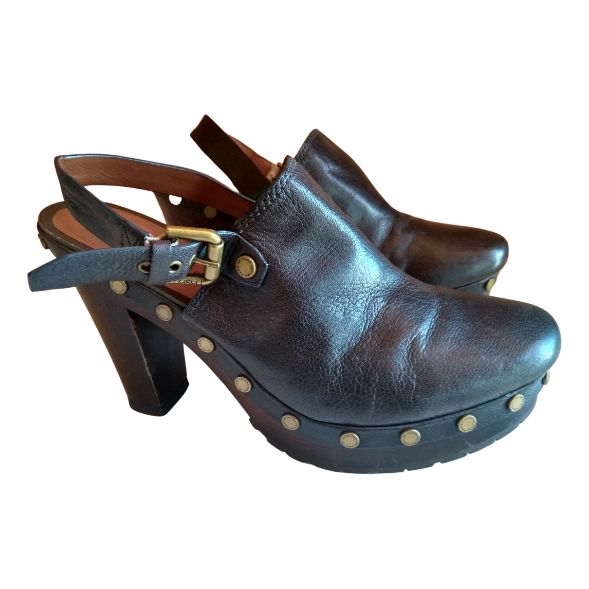 Marc By Marc Jacobs \N Brown Leather Mules & Clogs for Women 41 EU