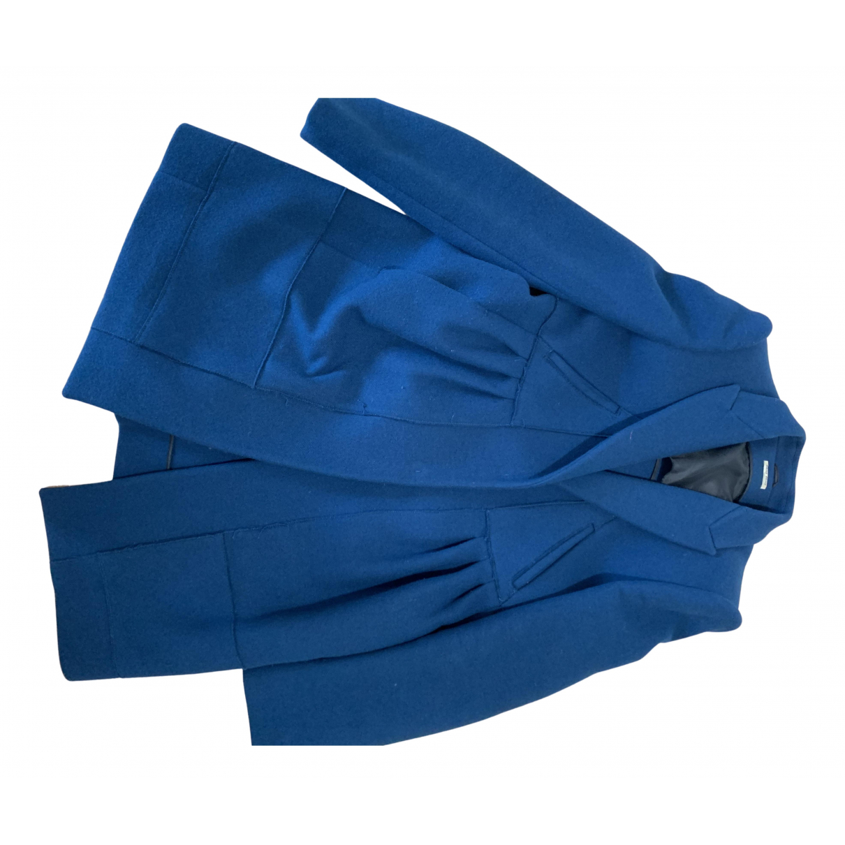 Miu Miu - Manteau   pour femme en laine - bleu