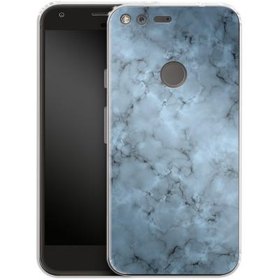 Google Pixel Silikon Handyhuelle - Blue Marble von caseable Designs