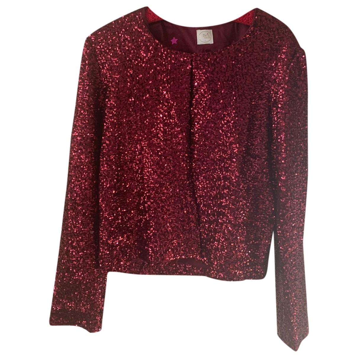 Des Petits Hauts \N Burgundy Glitter jacket for Women 38 IT