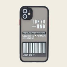 1 Stueck iPhone Huelle mit Buchstaben Muster