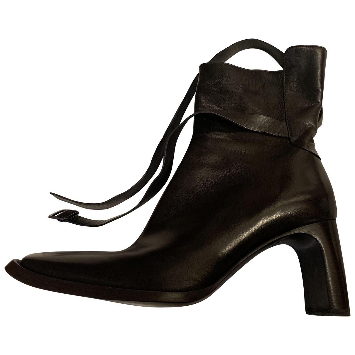 Costume National \N Black Leather Ankle boots for Women 40 EU