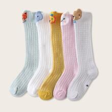 5 pares calcetines de bebe con estampado de dibujos animados