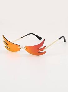 Flame Rimless Sunglasses