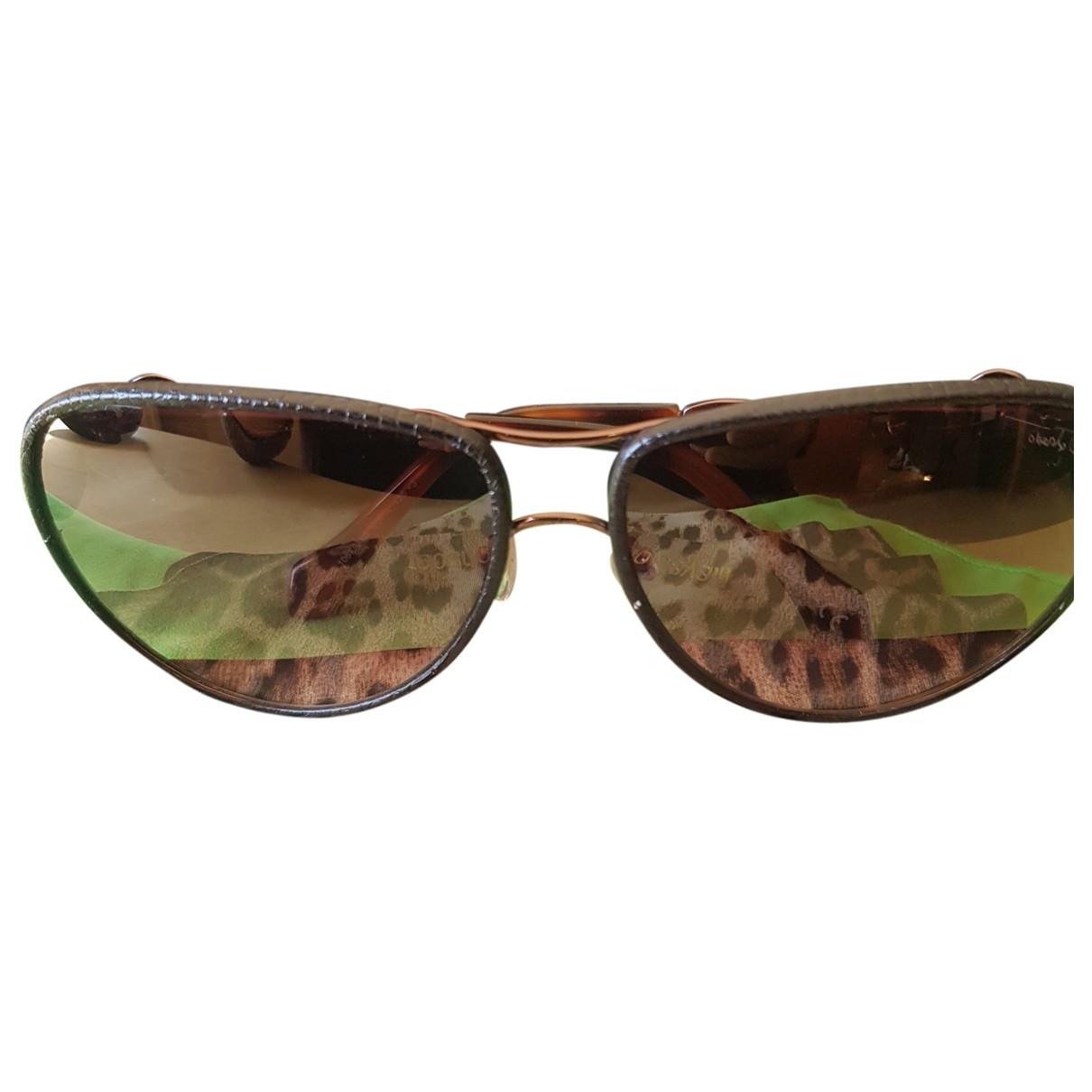 Roberto Cavalli \N Brown Metal Sunglasses for Women \N