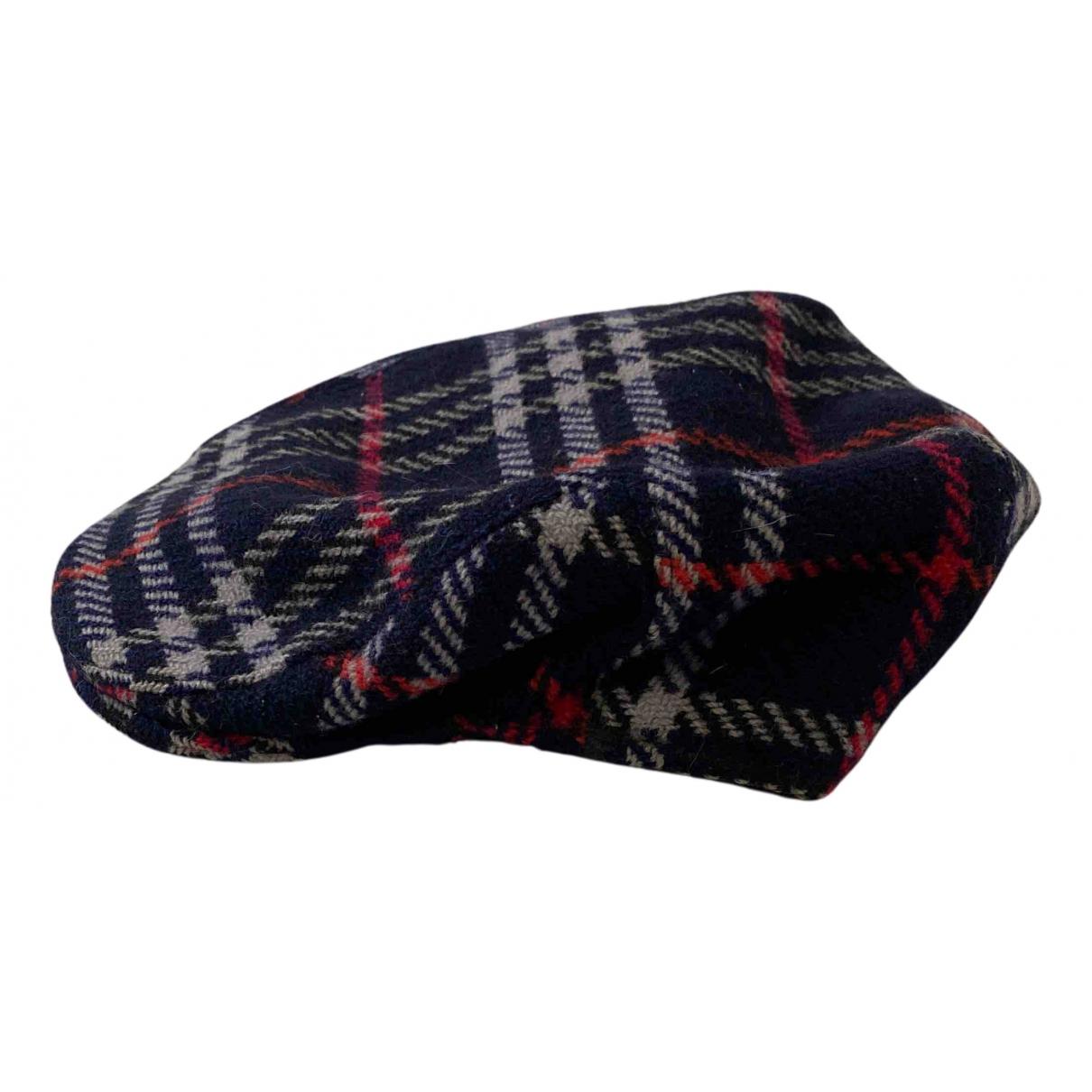 Burberry - Chapeau & Bonnets   pour homme en laine - bleu