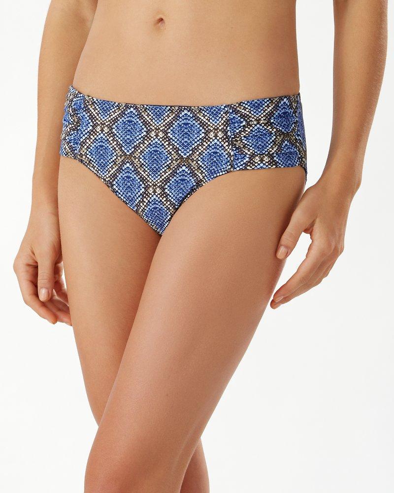 Desert Python Reversible Side-Shirred Bikini Bottoms