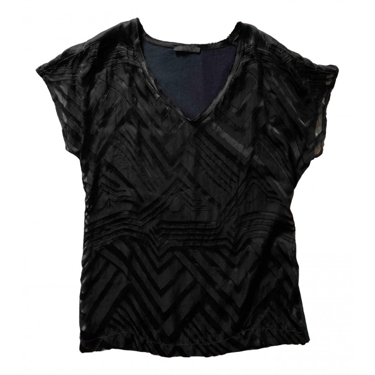 Pinko - Top   pour femme en soie - noir