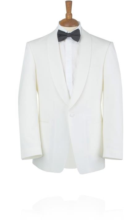 Ivory Tuxedo Jacket with Shawl Lapel 1 button on sale online deal