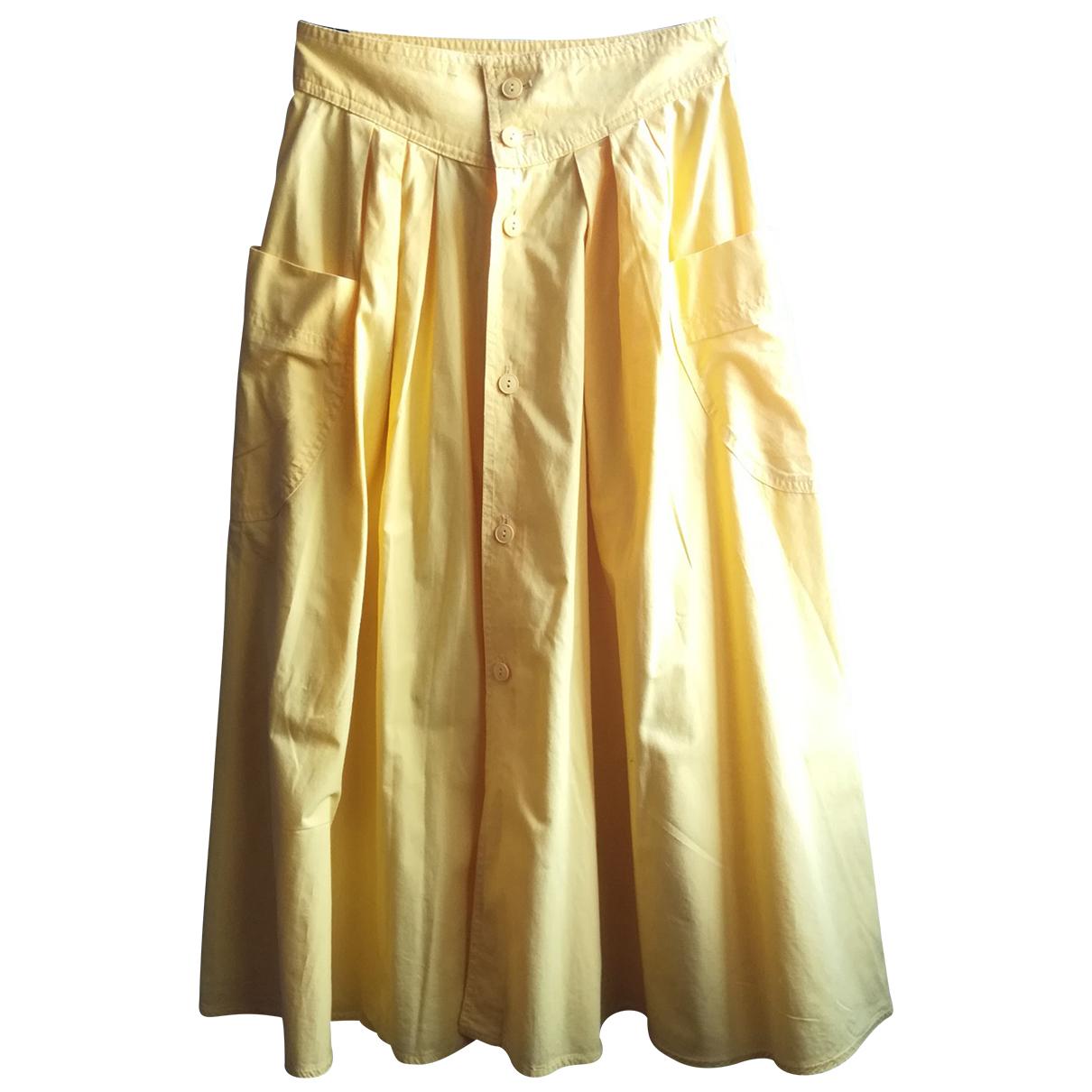 Benetton \N Yellow Cotton skirt for Women S International