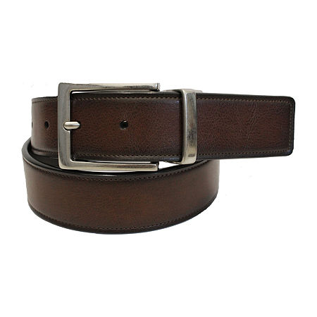 JF J.Ferrar Mens Reversible Stretch Belt, X-large , Brown