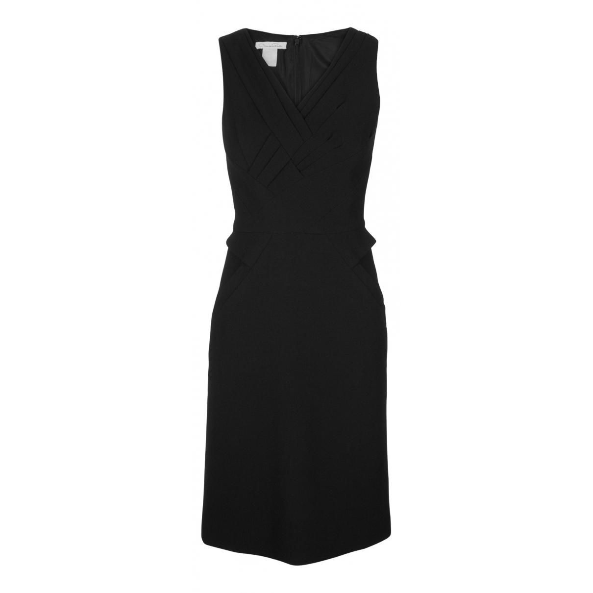 Oscar De La Renta N Black Wool dress for Women 4 UK