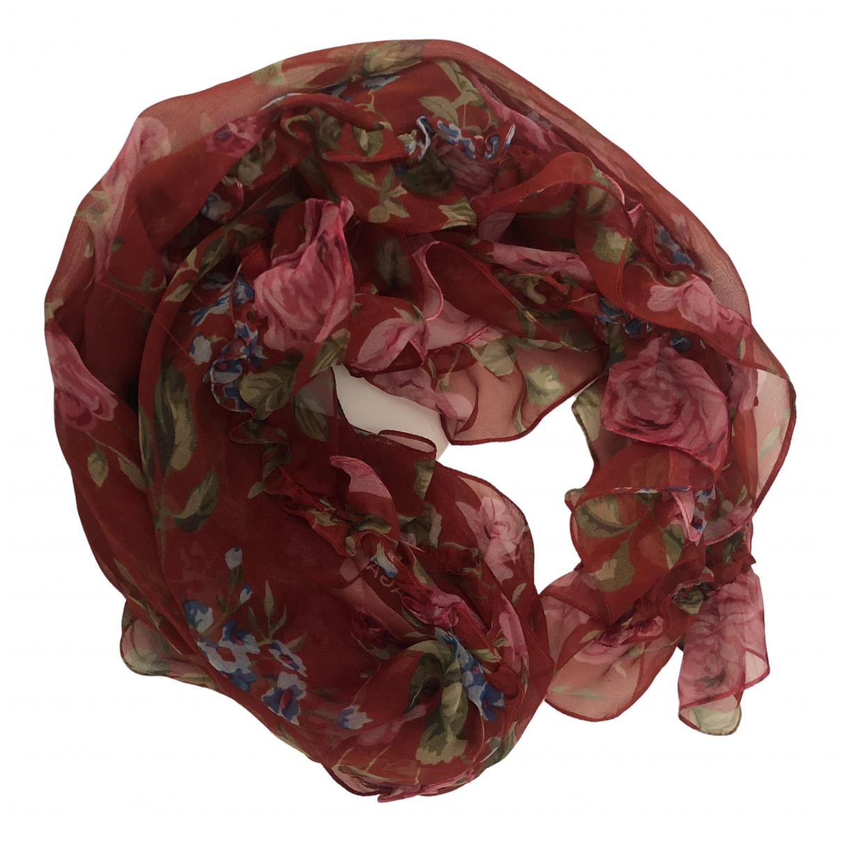 Balenciaga - Foulard   pour femme en soie - rouge