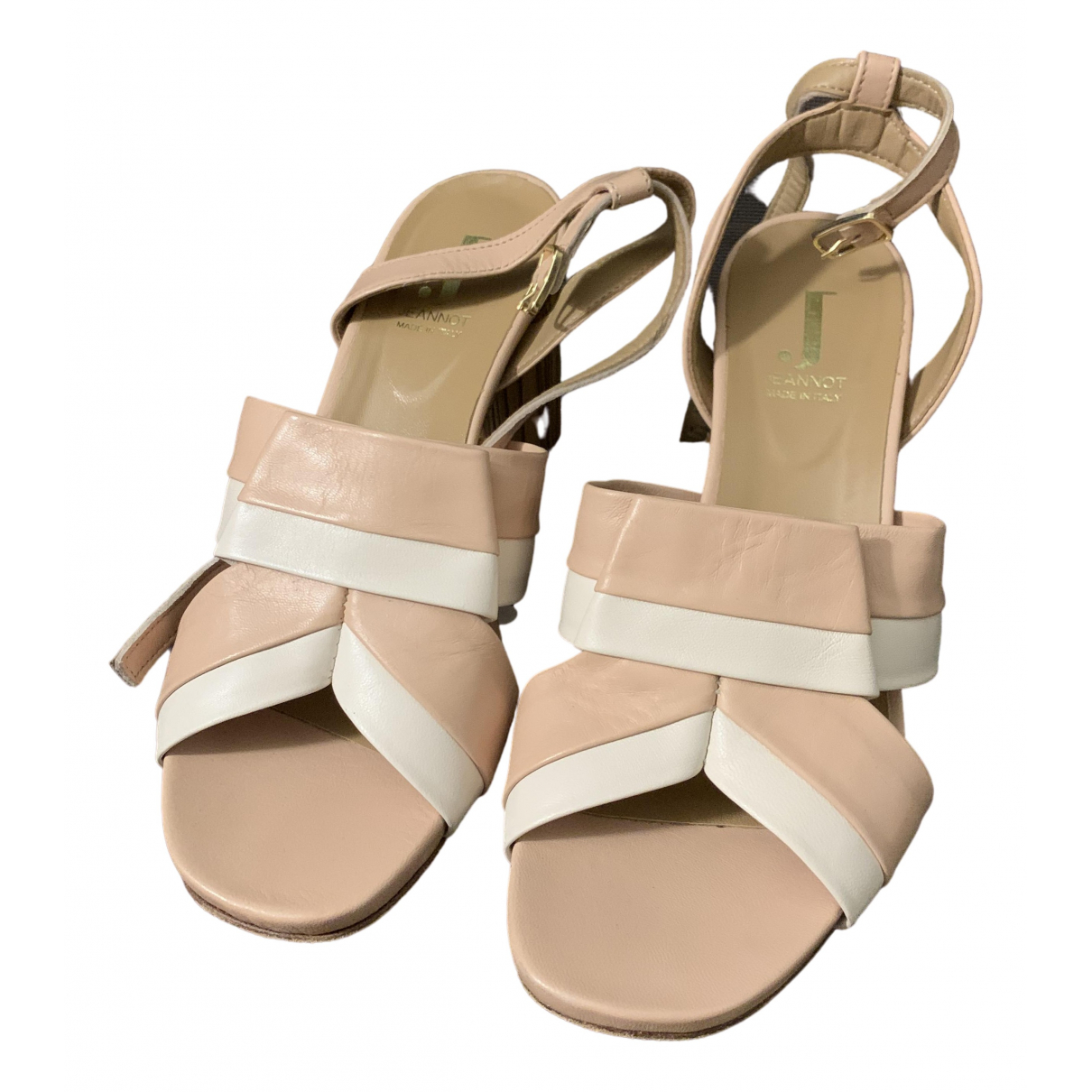 Non Signé / Unsigned \N Pink Leather Sandals for Women 37 EU