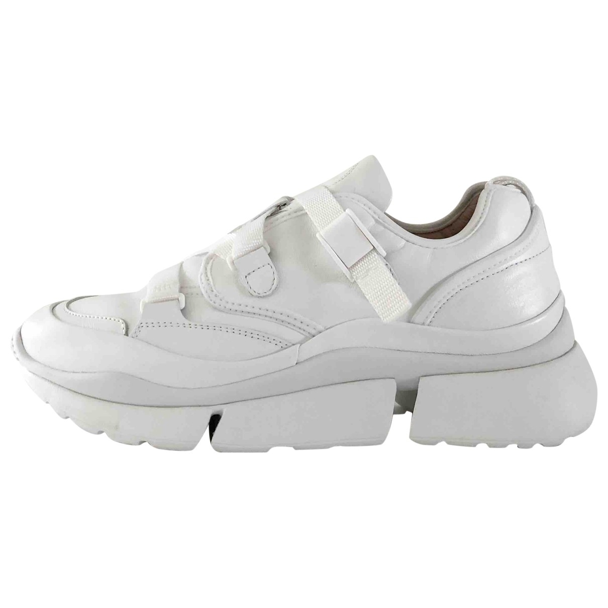Chloé Sonnie White Leather Trainers for Women 41 EU