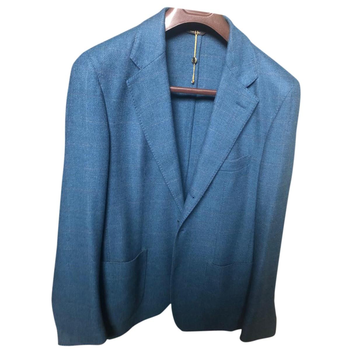 Loro Piana \N Jacke in  Blau Wolle