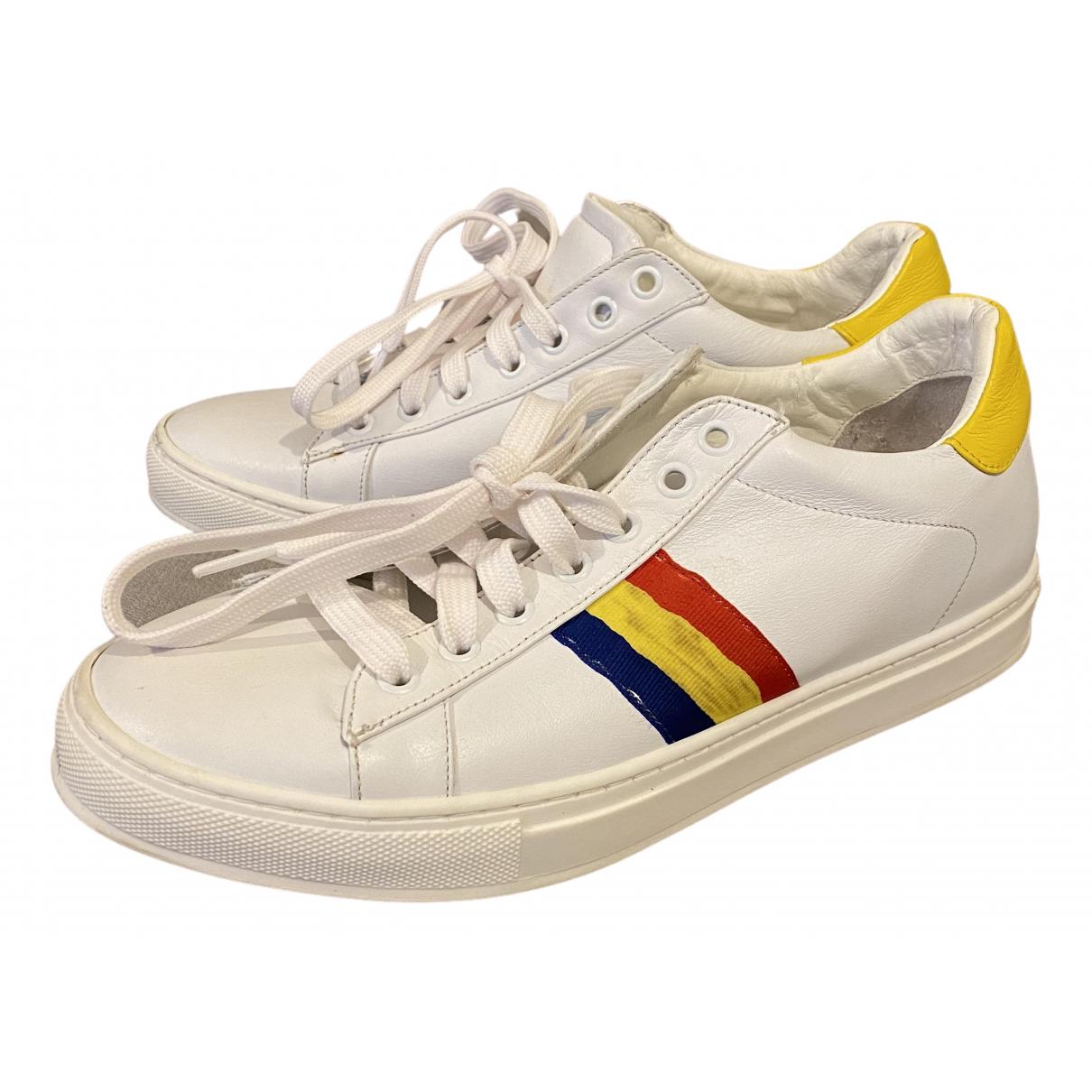 Jc De Castelbajac \N Sneakers in  Weiss Leder