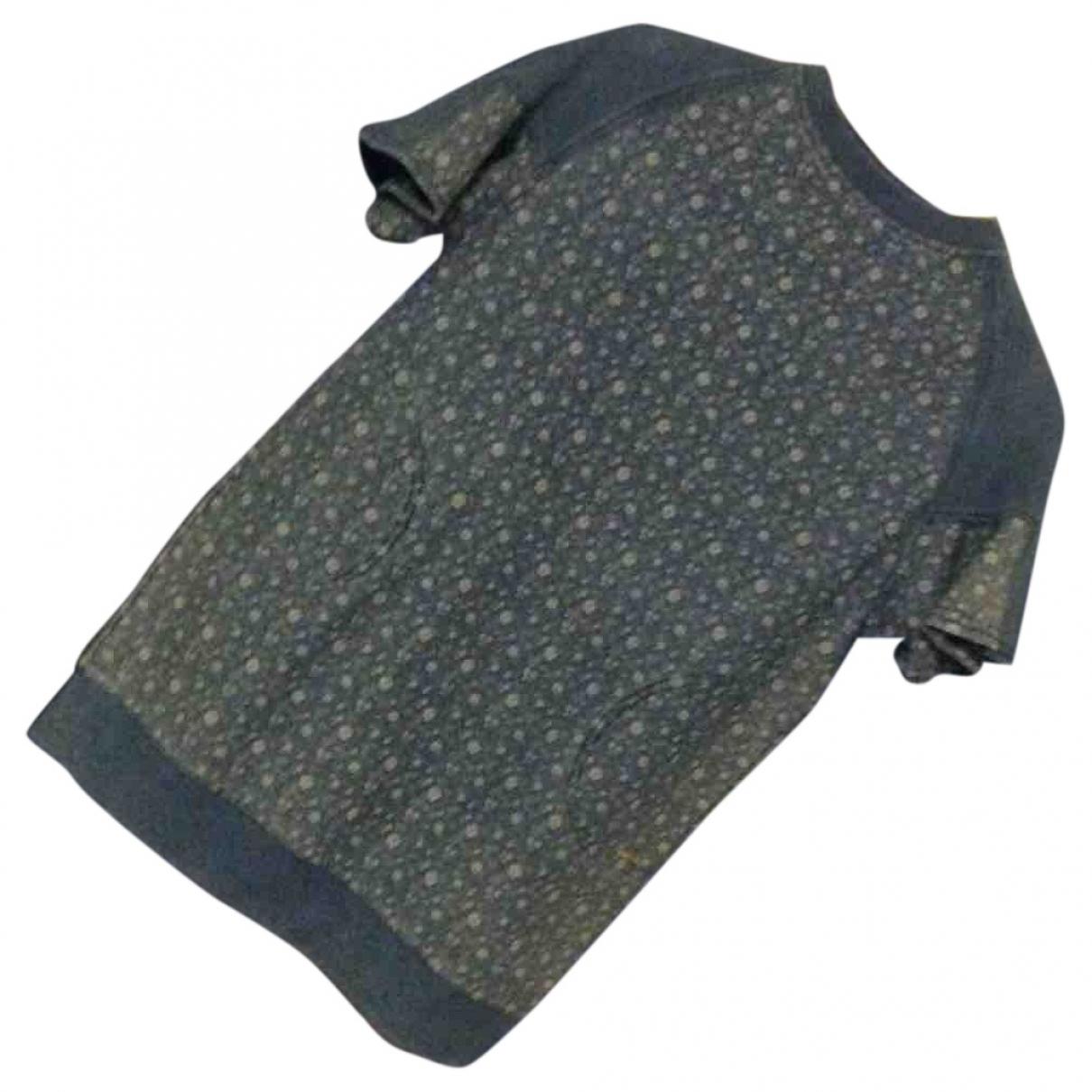 Twin Set - Robe    pour enfant en coton - bleu