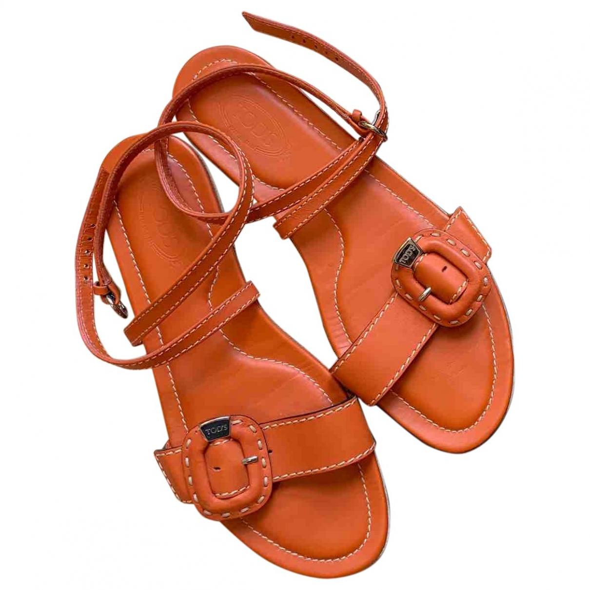 Tods \N Sandalen in  Orange Leder