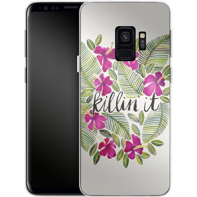 Samsung Galaxy S9 Silikon Handyhuelle - Killin It Pink von Cat Coquillette