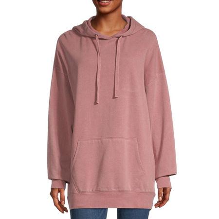 Flirtitude-Juniors Womens Long Sleeve Fleece Hoodie, X-large , Pink
