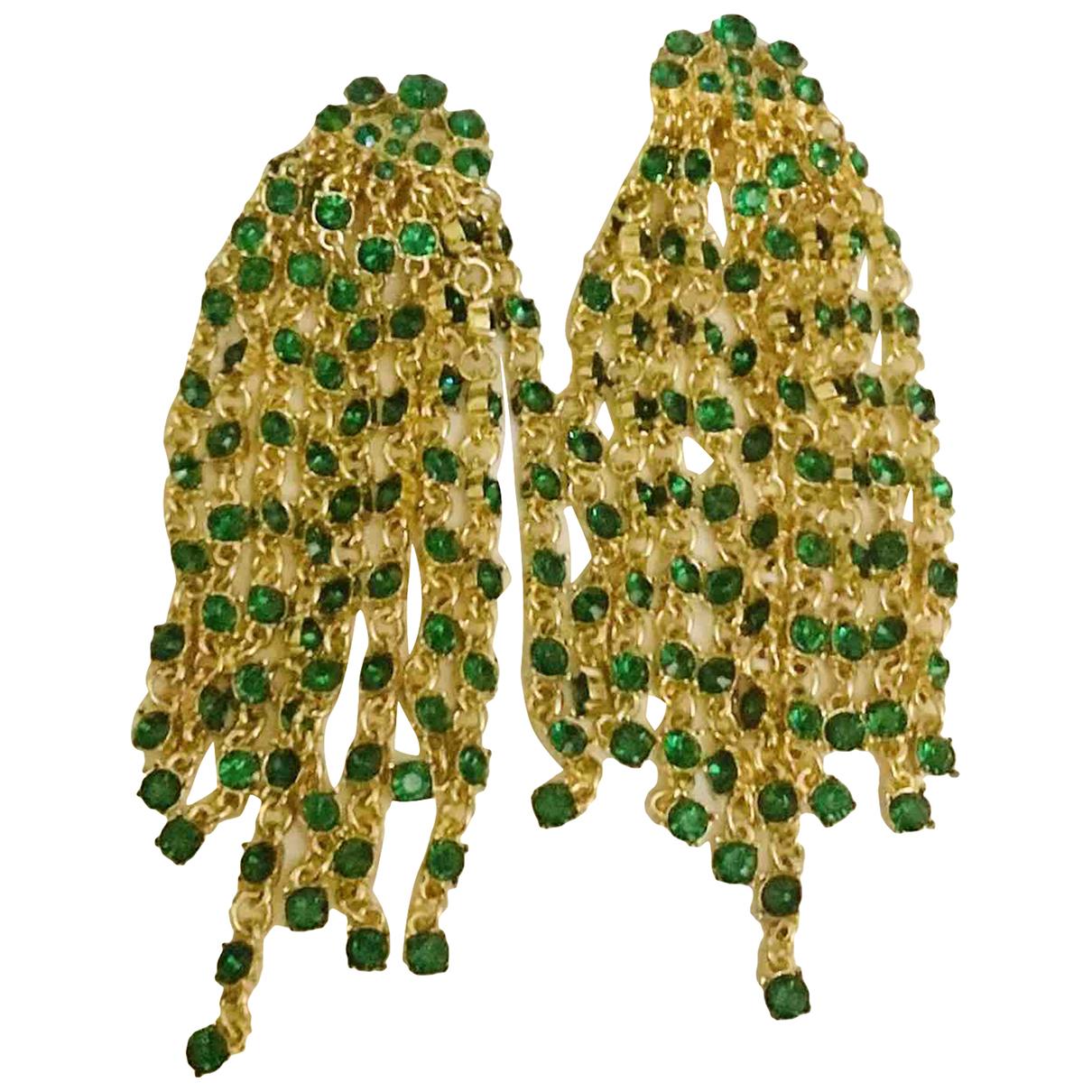 Oscar De La Renta - Boucles doreilles   pour femme en metal - vert