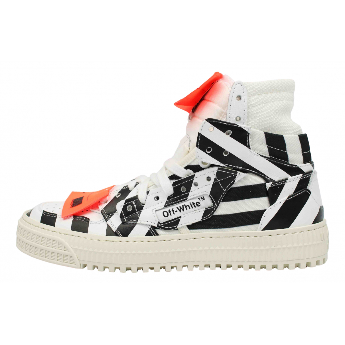 Off-white Off-Court Sneakers in  Weiss Leder