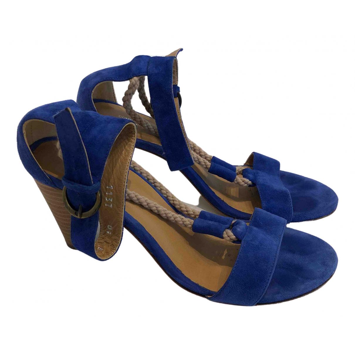 Comptoir Des Cotonniers \N Blue Suede Sandals for Women 36 EU