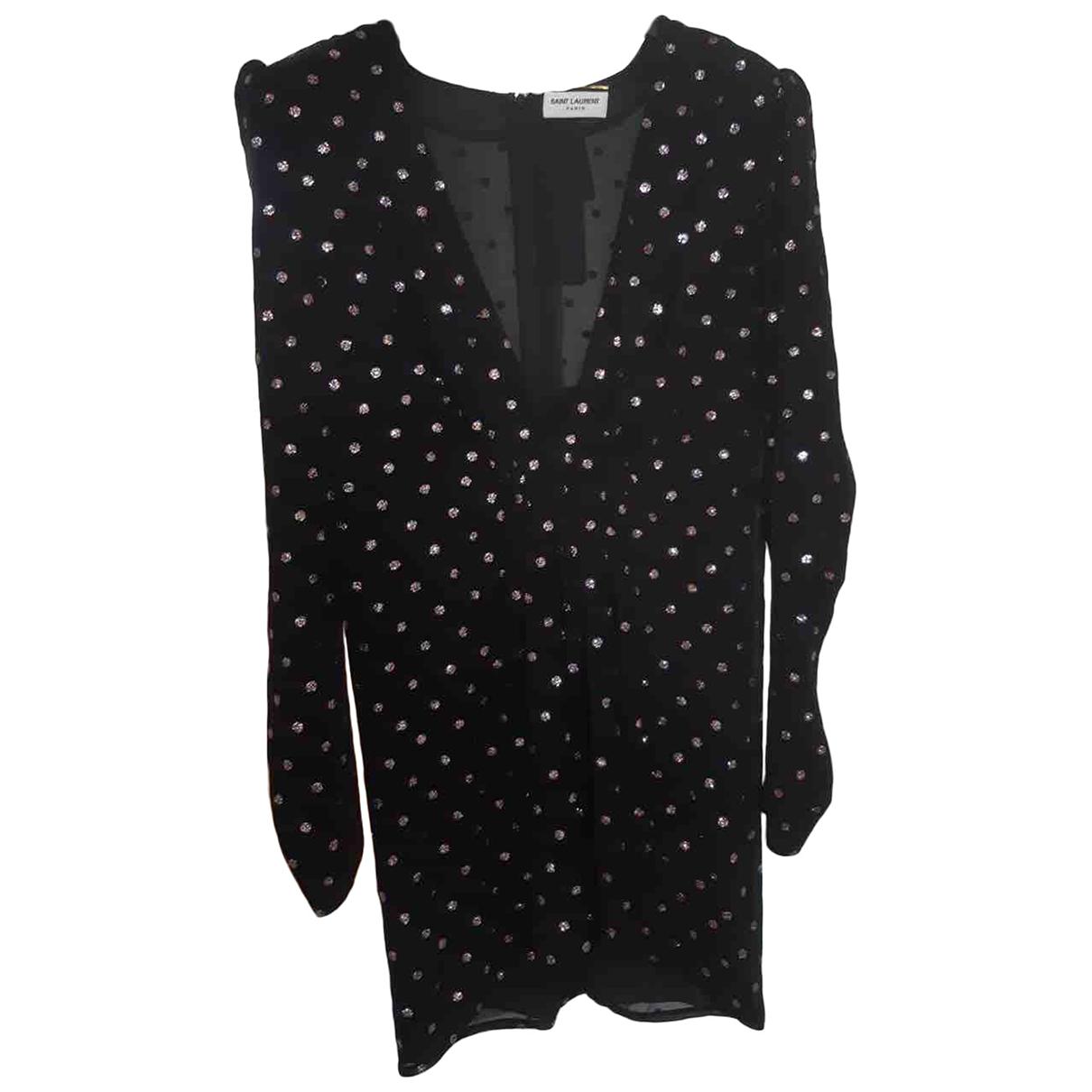 Saint Laurent \N Black Silk dress for Women 40 FR
