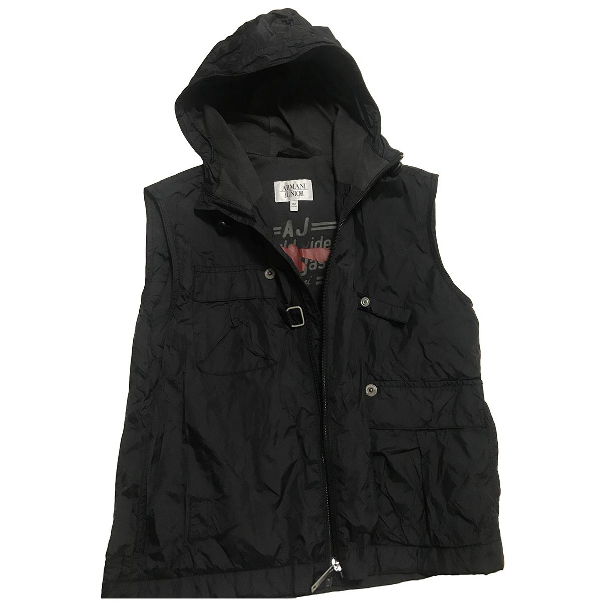 Armani Jeans \N Jacke, Maentel in  Schwarz Polyester