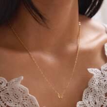 1pc Rhinestone Decor Butterfly Charm Necklace