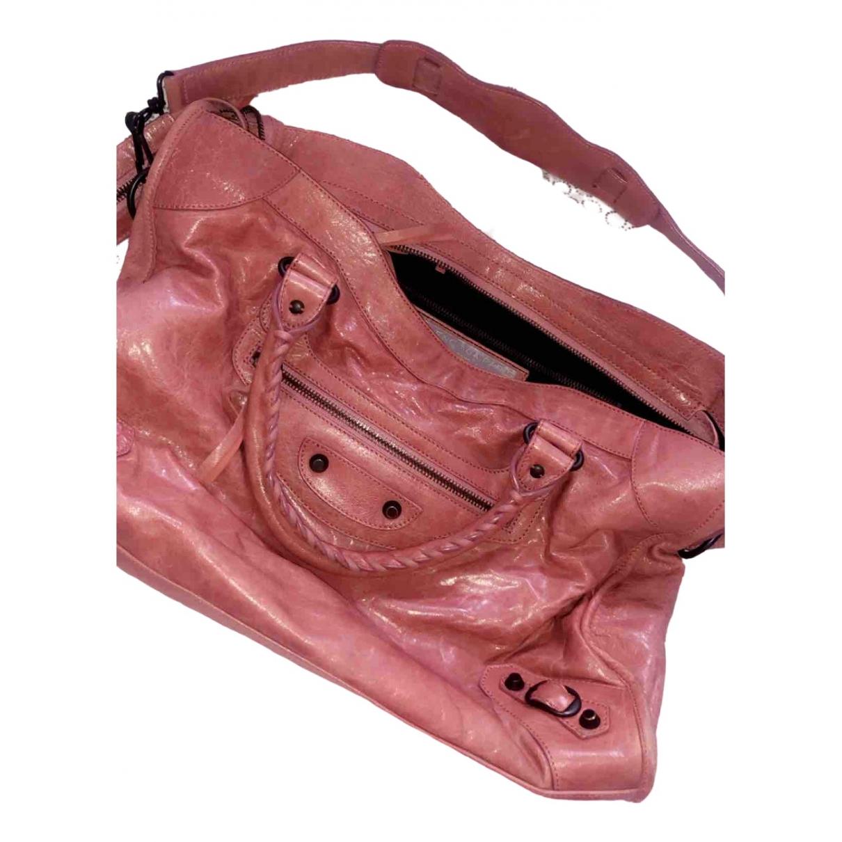 Balenciaga City Pink Leather handbag for Women \N
