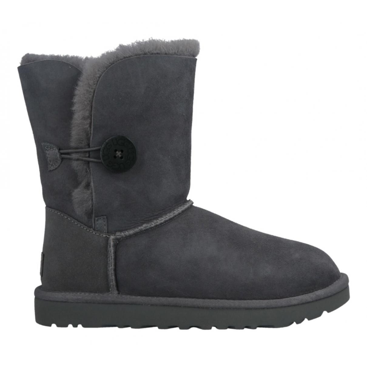 Ugg - Boots   pour femme en suede - anthracite
