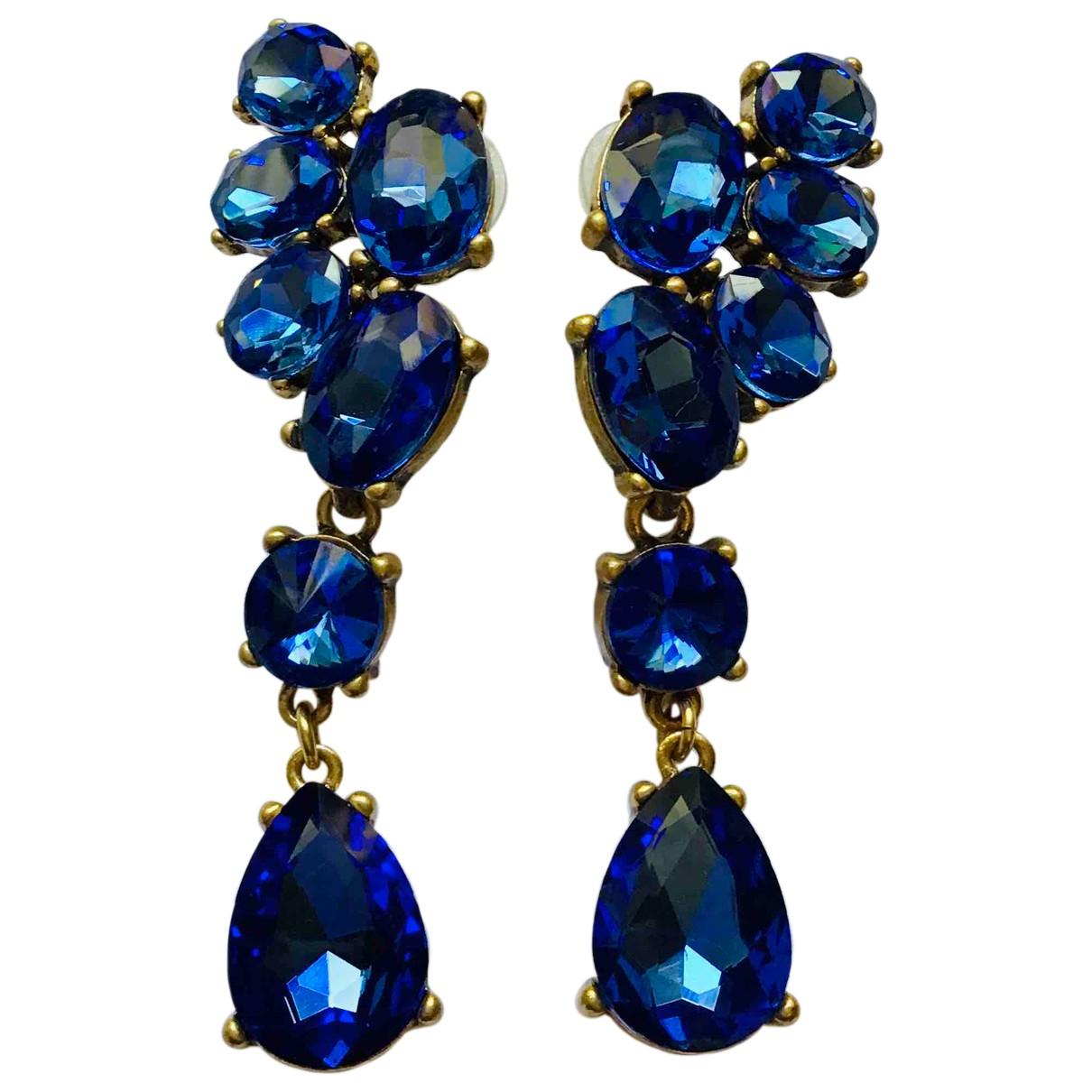 Oscar De La Renta - Boucles doreilles   pour femme en metal - bleu