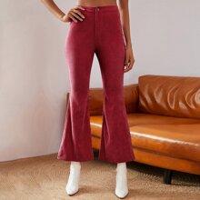 Double Crazy pantalones de pierna amplia de cintura alta