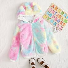 Girls Tie Dye Teddy Jacket