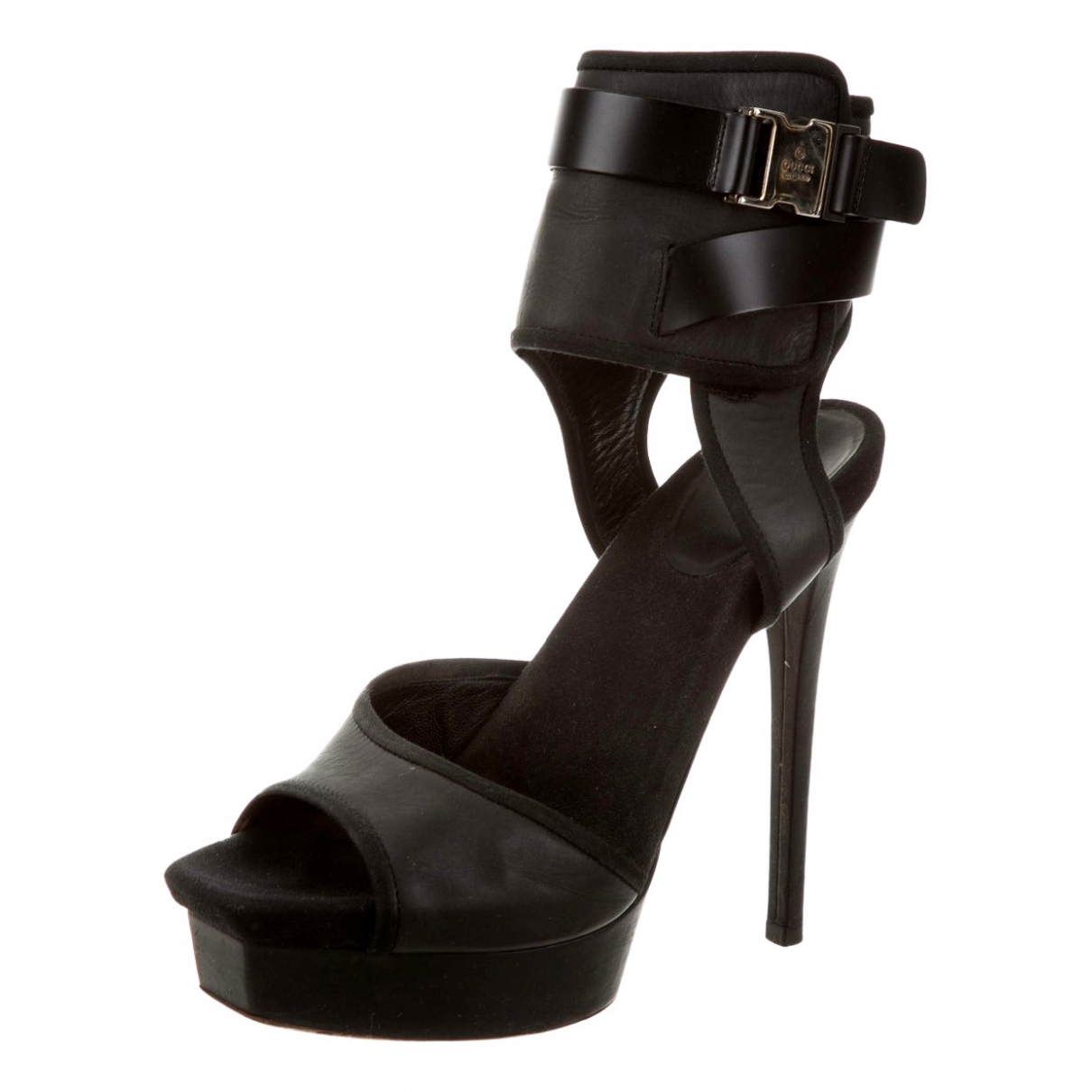 Gucci - Sandales   pour femme en cuir - noir