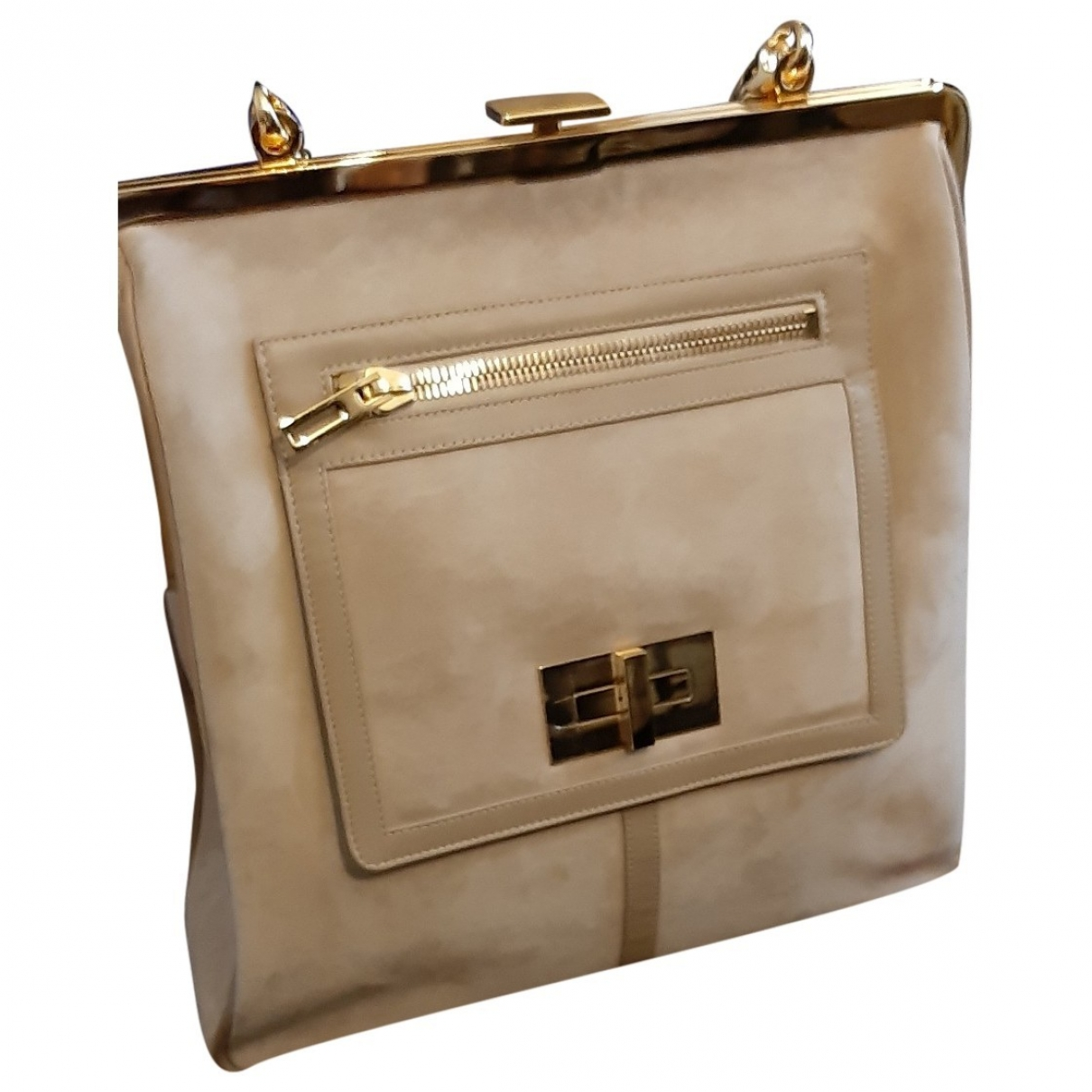 Pierre Balmain \N Ecru Leather handbag for Women \N
