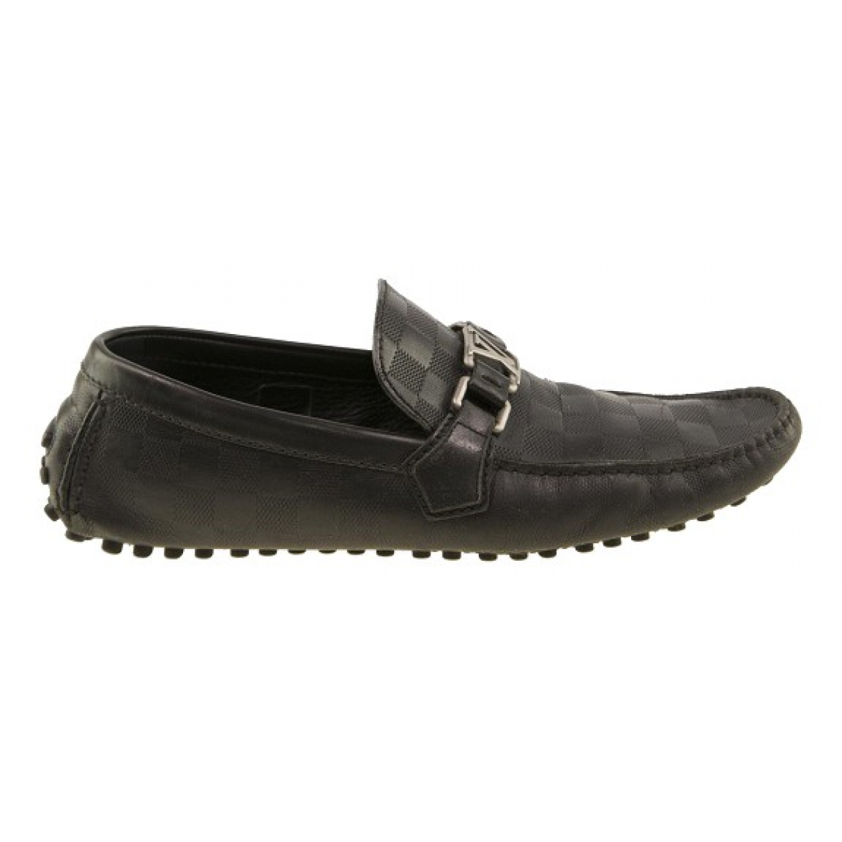 Louis Vuitton Hockenheim Black Leather Flats for Men 8 US