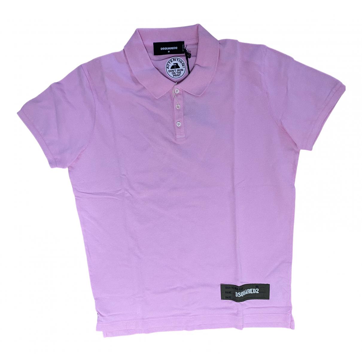 Dsquared2 - Polos   pour homme en coton - rose
