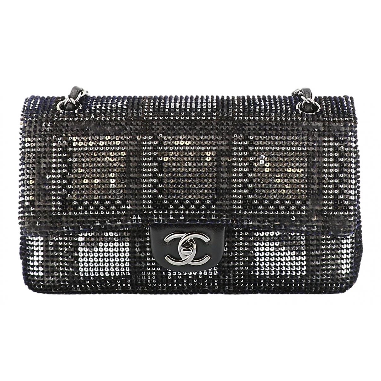 Chanel Timeless/Classique Black Glitter handbag for Women \N
