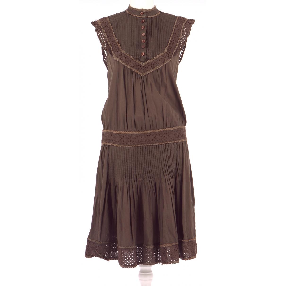 Tara Jarmon \N Kleid in  Braun Baumwolle