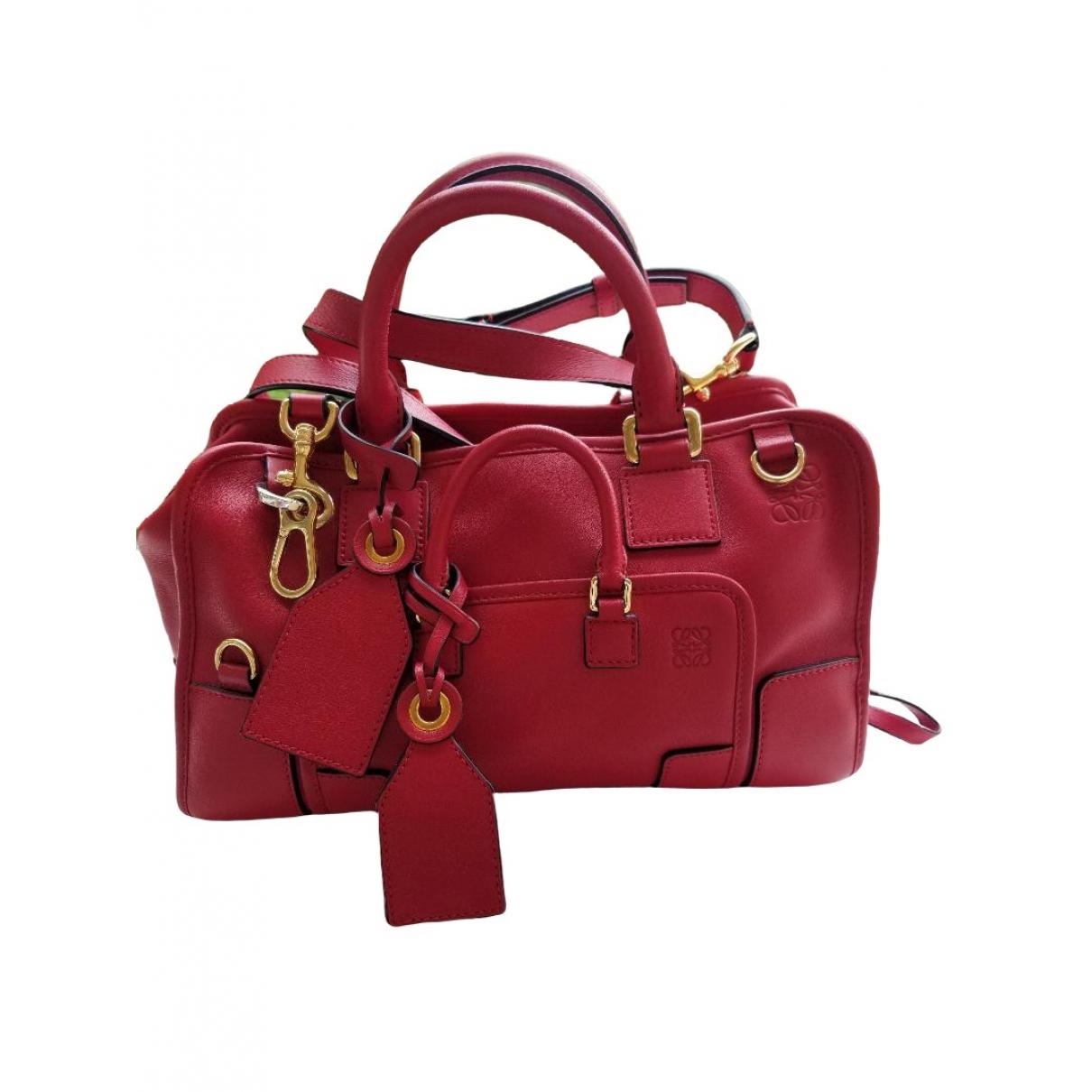 Loewe Amazona Handtasche in  Rot Leder