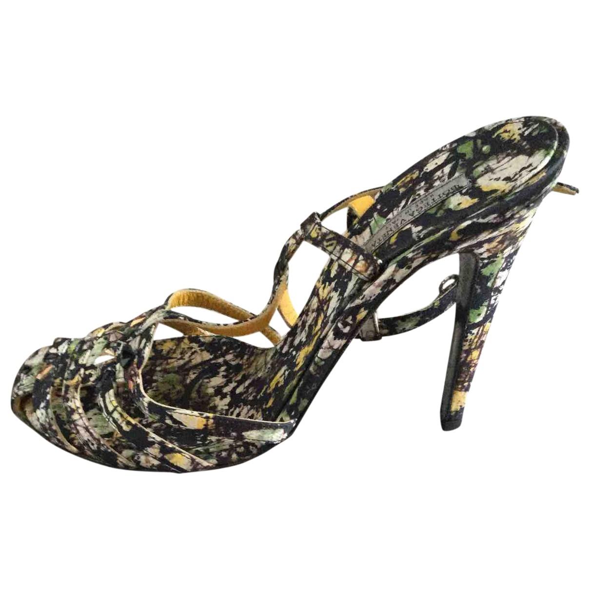 Bottega Veneta \N Black Cloth Sandals for Women 38 EU