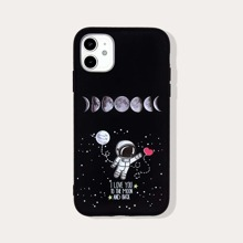 Cartoon & Letter Graphic iPhone Case