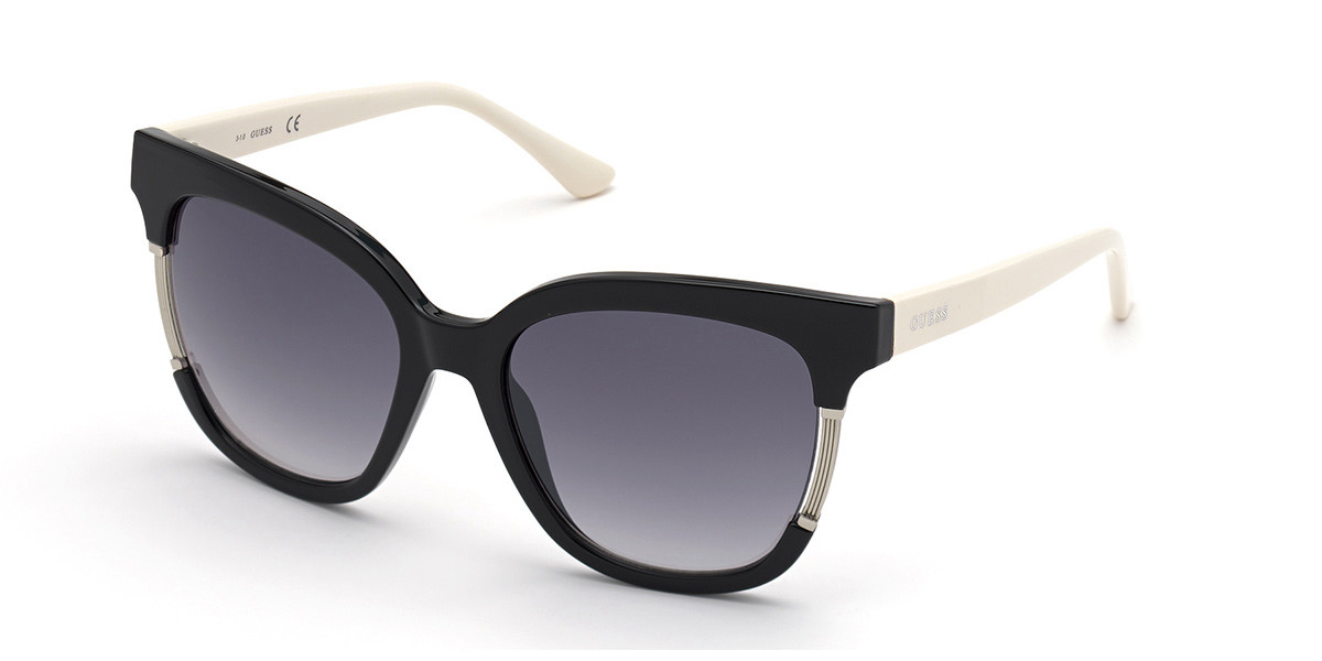 Guess GU 7726 01B Women's Sunglasses Black Size 55